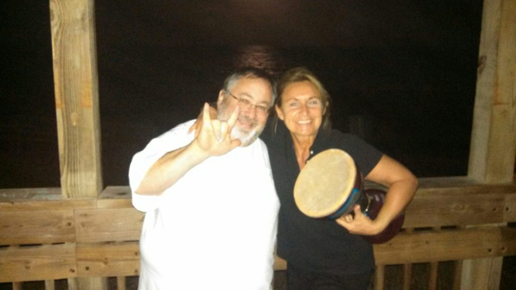 Drumming up Mother Moon... Love and Light
